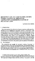 Securities law and arbitration