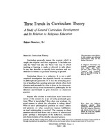 Three trends in curriculum theory