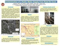 Contamination of a public water supply from road de-icers
