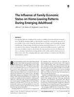 The influence of family economic status on home-leaving patterns during emerging adulthood