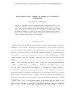 Nonparametric tests of moment condition stability