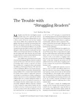 "The trouble with ""struggling readers"""
