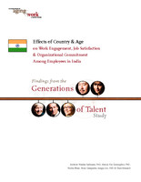 Effects of country & age on work engagement, job satisfaction & organizational commitment among employees in India