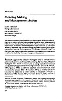 Meaning making and management action