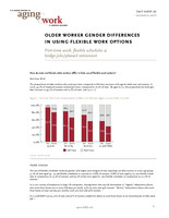 Older worker gender differences in using flexible work options