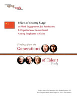 Effects of country & age on work engagement, job satisfaction & organizational commitment among employees in China