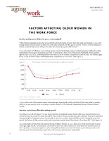 Factors affecting older women in the workforce