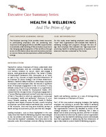 Health well-being and the prism of age