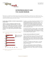Entrepreneurship and the older worker