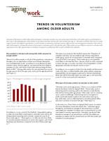 Trends in volunteerism among older adults