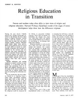 Religious education in transition