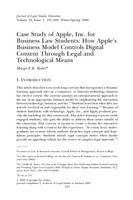 Case study of Apple, Inc. for business law students
