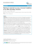 Maximum expected accuracy structural neighbors of an RNA secondary structure