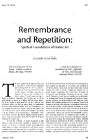 Remembrance and repetition
