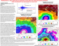 Propagation of P- and S- waves and the variation of peak amplitude from earthquake's epicenter using the Mississippi 2012 earthquake as a case study