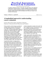 A longitudinal approach to understanding course evaluations