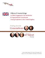 Effects of country & age on work engagement, job satisfaction & organizational commitment among employees in the United Kingdom