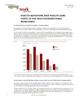 Health behaviors and health care costs in the multigenerational workforce