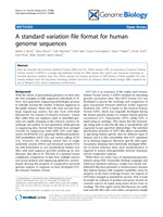 A standard variation file format for human genome sequences