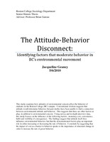 The Attitude-Behavior Disconnect
