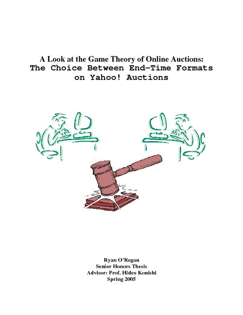 A Look At The Game Theory Of Online Auctions