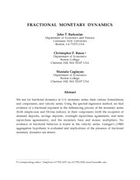 Fractional Monetary Dynamics