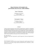 Fractional Dynamics in Japanese Financial Time Series