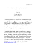 Towards New Open Economy Macroeconometrics