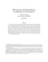 Heterogeneity and Redistribution
