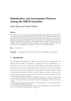 Globalization and Consumption Patterns among the OECD Countries