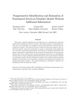 Nonparametric Identification and Estimation of Nonclassical Errors-in-Variables Models Without Additional Information