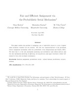 Fair and Efficient Assignment via the Probabilistic Serial Mechanism