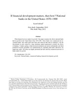 If financial development matters, then how? National banks in the United States 1870-1900