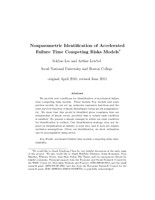 Nonparametric Identification of Accelerated Failure Time Competing Risks Models