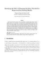 Identifying the Effect of Changing the Policy Threshold in Regression Discontinuity Models