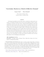 Uncertainty Shocks in a Model of Effective Demand