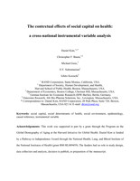 The contextual effects of social capital on health