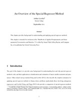 An Overview of the Special Regressor Method