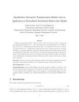 Specification Testing for Transformation Models with an Application to Generalized Accelerated Failure-time Models