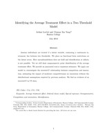 Identifying the Average Treatment Effect in a Two Threshold Model