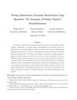 Testing Multivariate Economic Restrictions Using Quantiles