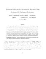 Nonlinear Difference-in-Differences in Repeated Cross Sections with Continuous Treatments