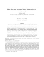 Firm Risk and Leverage Based Business Cycles