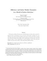 Efficiency and Labor Market Dynamics in a Model of Labor Selection