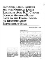 Employer e-mail policies and the National Labor Relations Act