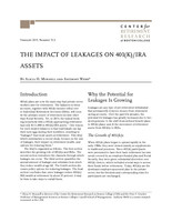 The Impact of Leakages on 401(K)/IRA assets