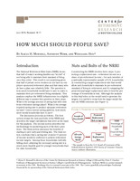 How much should people save?