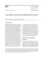 Can PBGC save multiemployer plans?