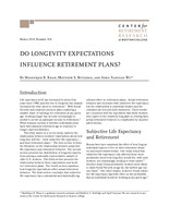 Do longevity expectations influence retirement plans?