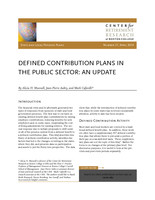 Defined contribution plans in the public sector